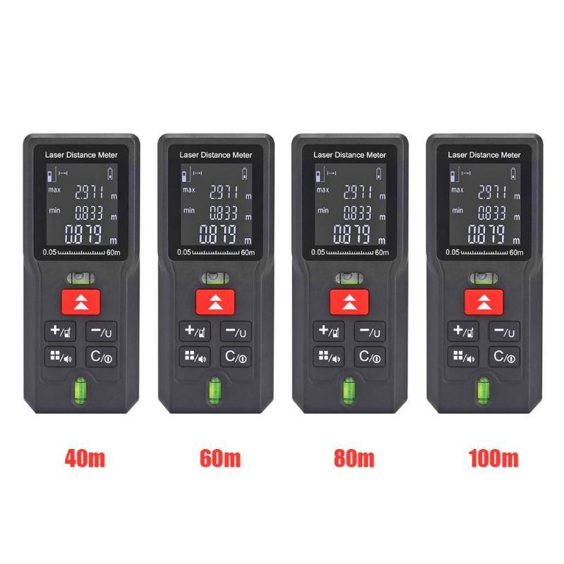 40/60/80/100m telémetro láser medidor de distancia buscador de rango cinta electrónica regla medidor Digital láser