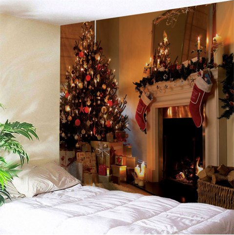Papel Mural 5d decoración de pared de Navidad Firplace Papel tapiz de seda para sala de estar fondo de sala 3d foto Mural Papel de pared murales 3d