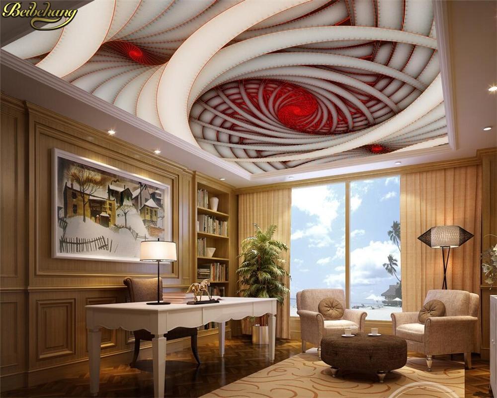 Papel pintado personalizado beibehang papel tapiz Mural 3D espiral geometría arte Zenith...