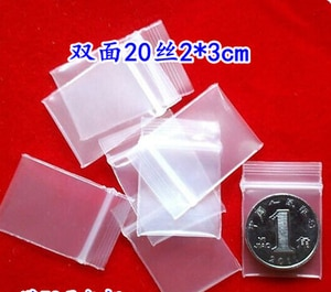 pe thick wire 10 9 * 13CM ziplock bag film 100 sealed bags small bags transparent plastic bags