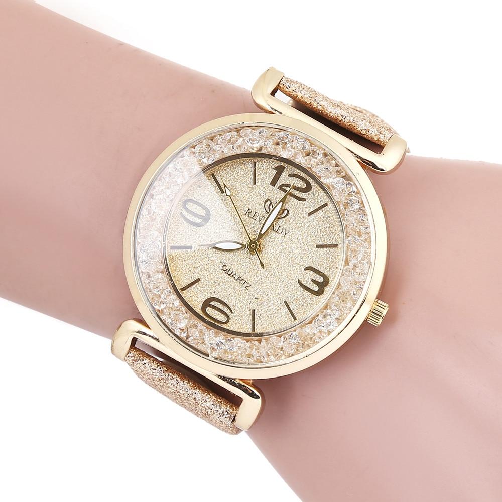 Fashion Women Crystal Stainless Steel Analog Quartz Wrist Watch fashion women watches ladies wristwa