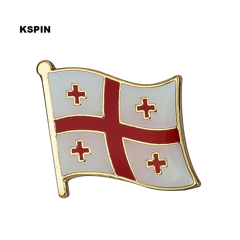 Georgia flag pin lapel pin badge  Brooch Icons 1PC KS-0069