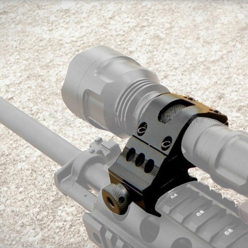 """Anillo de montaje en riel Airsoft de 1 """"y 25mm para pistola lateral, soporte para linterna láser/montaje del visor del rifle apto para RL2-0002 de riel de 20mm"""