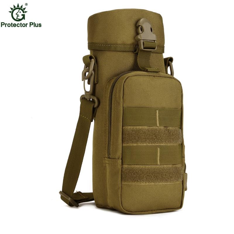 Camuflaje táctica hervidor de agua paquete 800ml viaje hervidor de agua bolsa de hombro pequeña bolsa de mensajero bolsas Vice S40