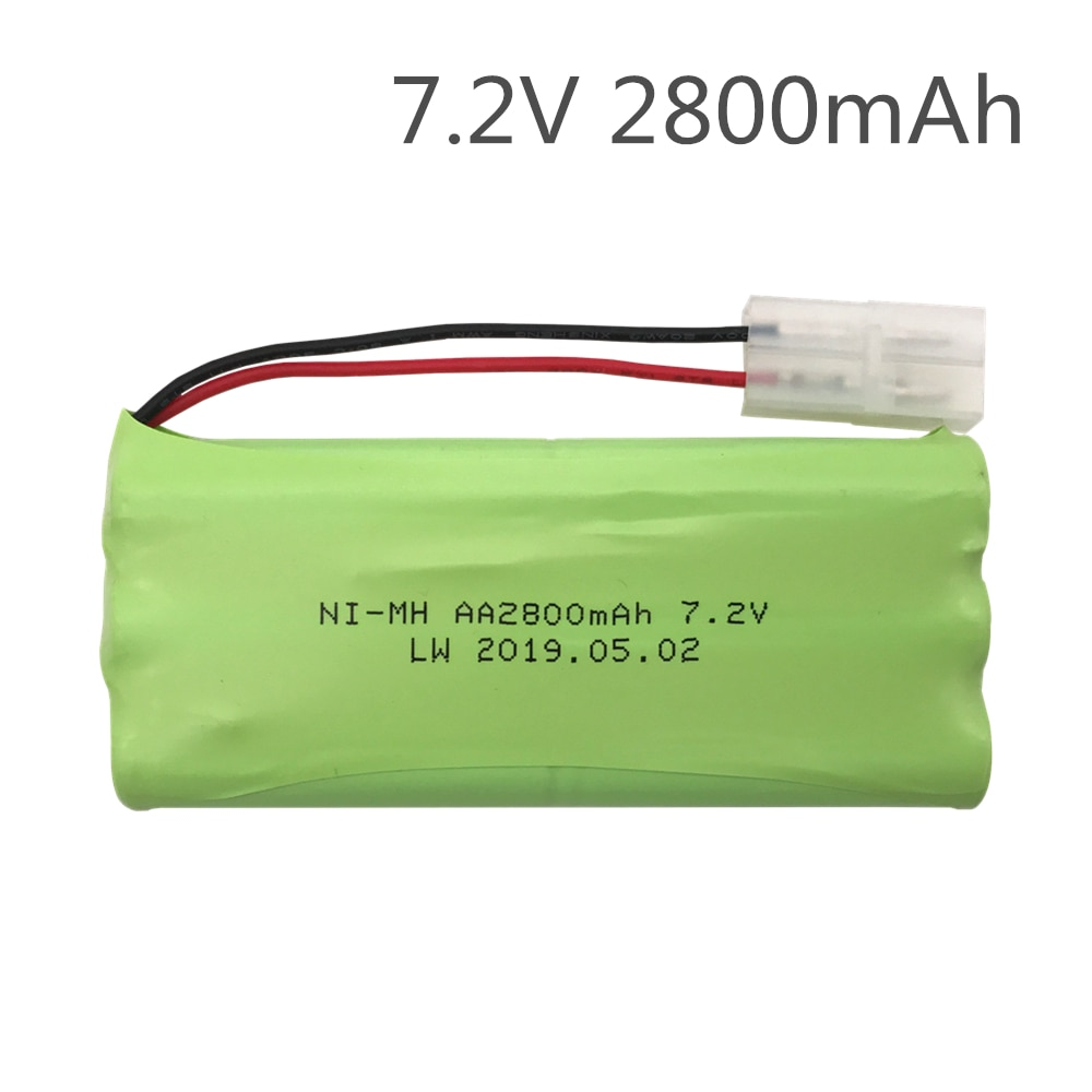 7.2V 2800mAh NiMH Rechargeable RC toy Battery with Tamiya Discharge Connector for RC Racing Cars Boa