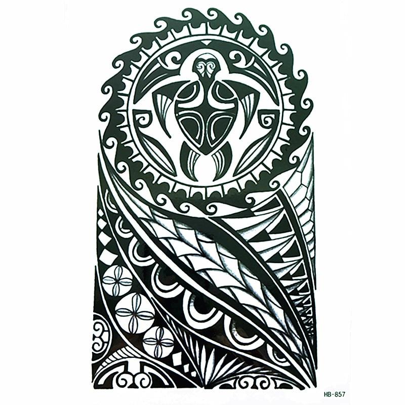 New arrive  2017 Fashion watertransfer sticker cool  totem Waterproof Temporary Tattoo Sticker arm tottoo makeup body tattoos