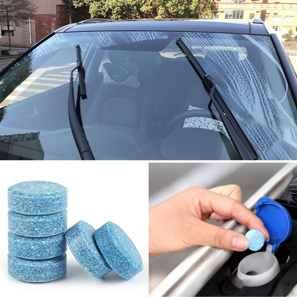Venta al por mayor 5/20/30/40 piezas de limpieza de vidrio de parabrisas de coche inocuo limpiador de tabletas efervescentes concentradas