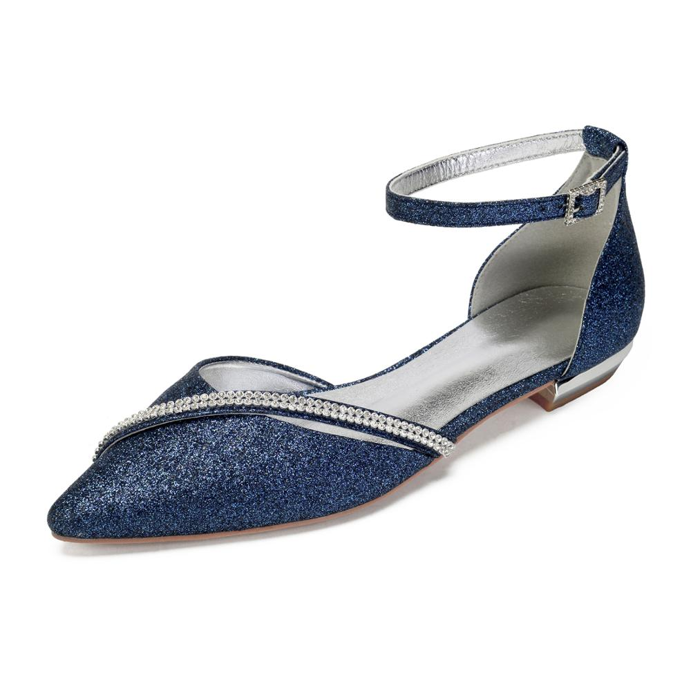 Zapatos planos elegantes ostentosos de señora con correa de diamante de imitación, zapatos planos con punta estrecha, zapatos de boda, fiesta, graduación, vestido de noche para discoteca, zapatos