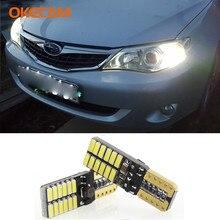 2pcs Canbus T10 W5W LED Clearance Parking Lights For Subaru Forester Impreza Legacy Outback XV Sti Wrx Brz Liberty Baja XT Justy