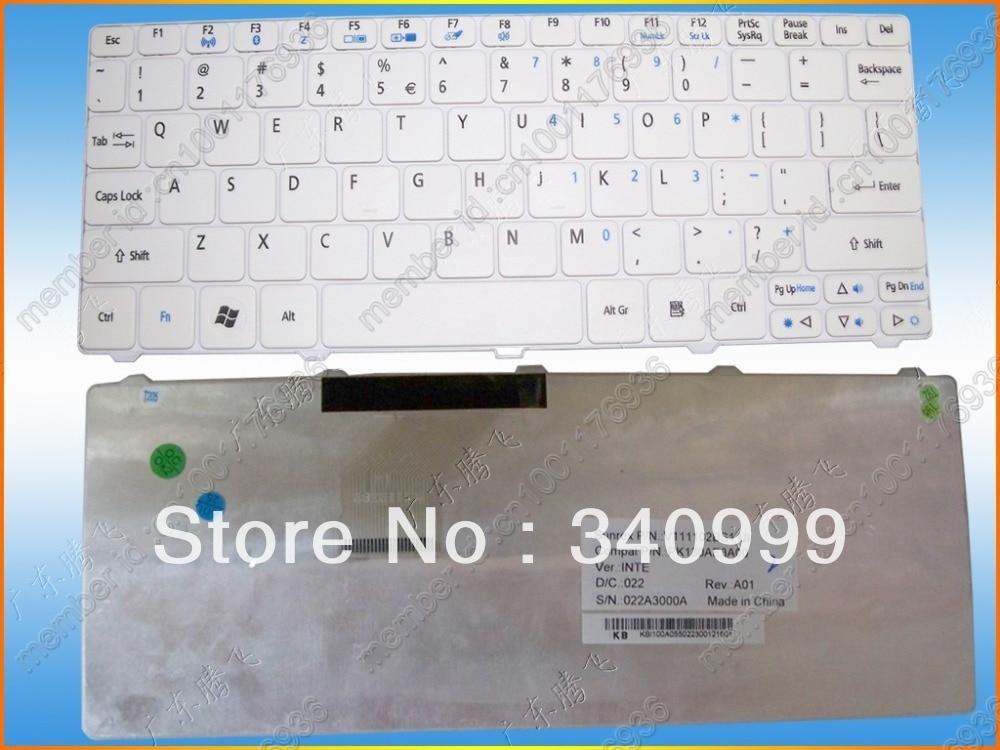 Envío Gratis nueva para Acer Aspire una D255 D255E D257 D260 D270 D532H nos teclado blanco