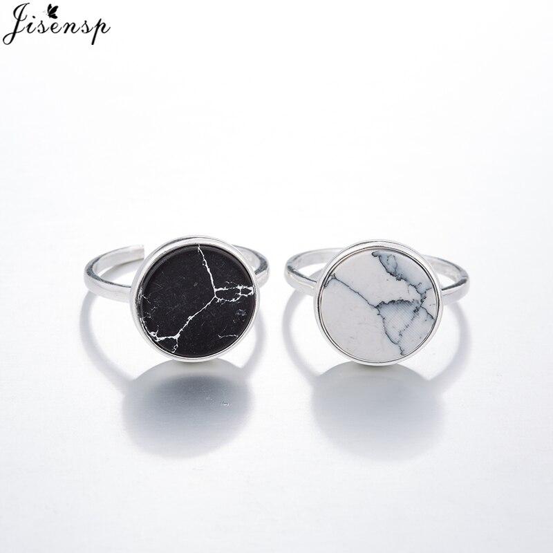 Anillos de ópalo Vintage Jisensp para mujer, regalos de fiesta, anillos de piedra de diamante de imitación de moda, anillo redondo grande de estilo Punk, joyería de hombre caliente