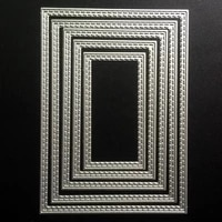 scd611 rectangle metal cutting dies for scrapbooking stencils diy album cards decoration embossing folder craft die cuts new