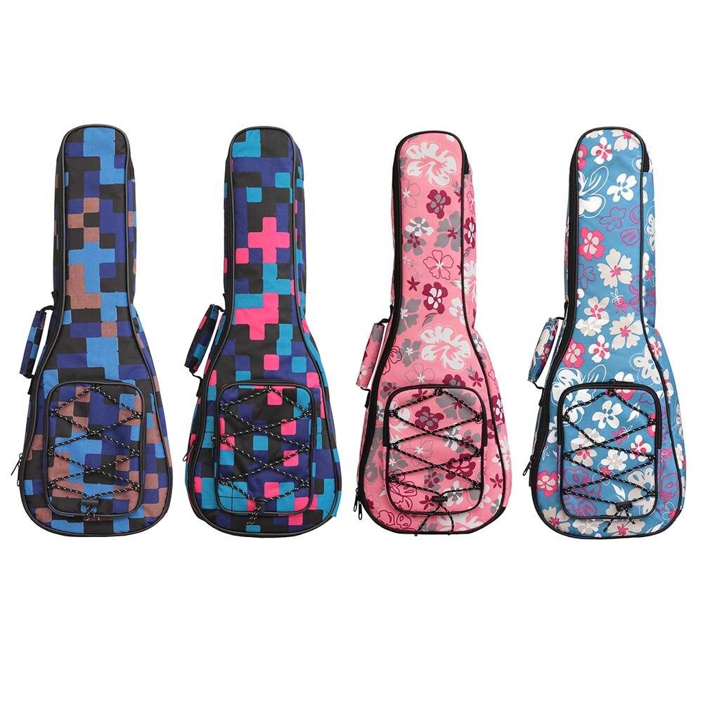 Портативный 21 23 26 дюймов концертный укулеле водонепроницаемый чехол gig bag защитный рюкзак Регулируемый плечевой ремень маленький чехол для гитары