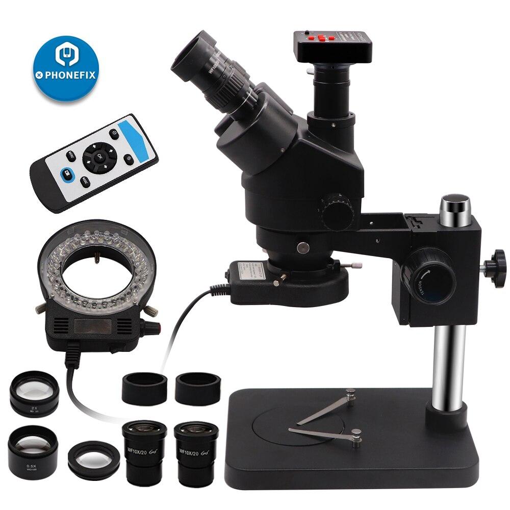 14MP 16MP 21MP HDMI 카메라 납땜 수리 도구와 독특한 블랙 3.5X-90X Simul 초점 Trinocular 스테레오 줌 현미경