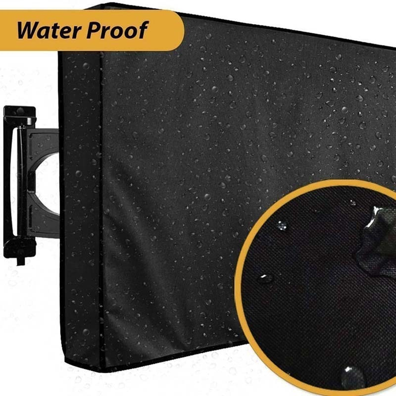 Outdoor LCD LED TV Cover with Microfiber Cloth Waterproof Dust-Proof TV Screen Dust Covers Protector Television Protective Case