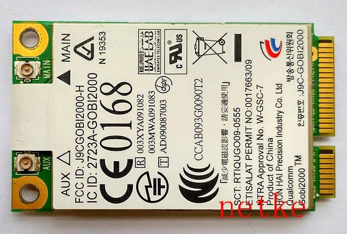 JINYUSHI для UN2420 GOBI2000 WWAN 3G модемы карта для HP 2540P 2740P 6530b 8440P 8440W 8540P 8540W 8740P