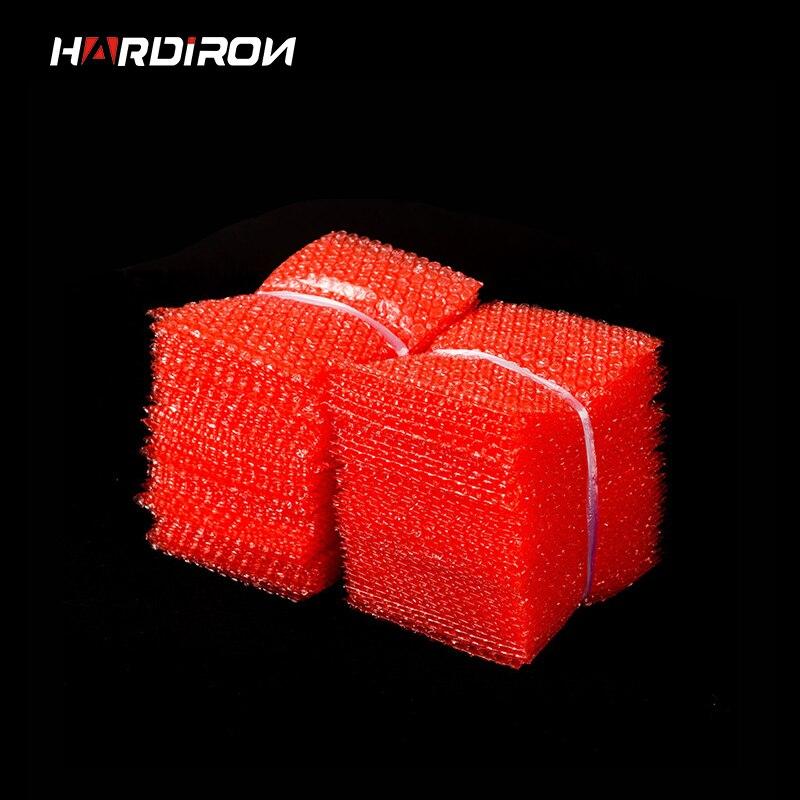 Saco de plástico da bolha do filme dobro da cor vermelha pe dois pacotes da camada envelopes bolsa anti-estática à prova de choque acolchoado malotes saco de bolha