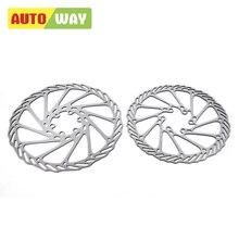 Rotor de frein de vélo Autoway avid BB7 AVID G3 discothèques hydrauliques freno bicicleta 160mm avec boulons 082441,2 pièces/ensemble