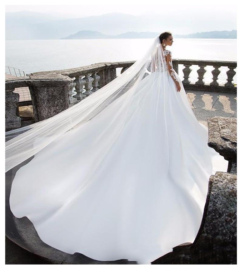 Купить с кэшбэком LORIE Beach Wedding Dress Long Sleeves A Line Vintage Princess Informal Wedding Gown Elegant Boho Beach Bride Dress 2019