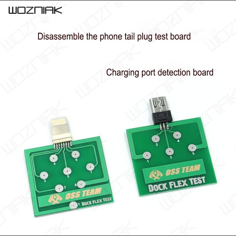 Herramientas de reparación de prueba flexible de base de carga profesional para iPhone X 8 8plus 7 6 6s Plus, herramienta de prueba de Micro teléfono Android