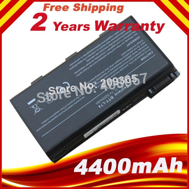 Para msi bateria a5000 a6000 a6200 a6203 a6205 a7200 series bty-l74 l75 l74 bty-l75 ms-1682 bateria do portátil