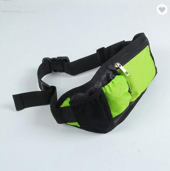 Durable black polyester outdoor custom logo adjustable elastic neoprene waterproof fitness travel waist bag