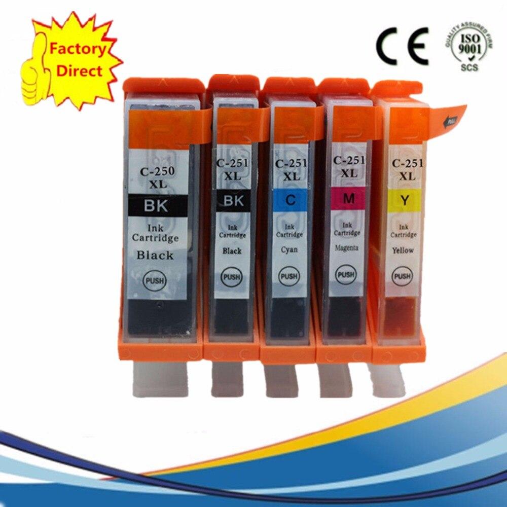 PGI 250 XL CLI-251 PGI250 PGI-250 Substituição de Cartuchos de Tinta Para MG 5422 5520 5522 6320 6420 7120 IP 7220 8720 MX 722
