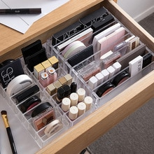 Şeffaf akrilik makyaj organizatör CC krem saklama kutusu organizador maquillaje plastik kozmetik tutucu kabine tozu ekran kutusu