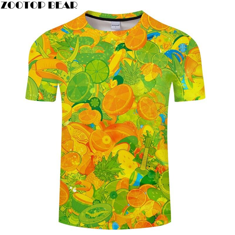 Camiseta con estampado de Naranja para hombre, Camiseta en 3D, Camiseta de...
