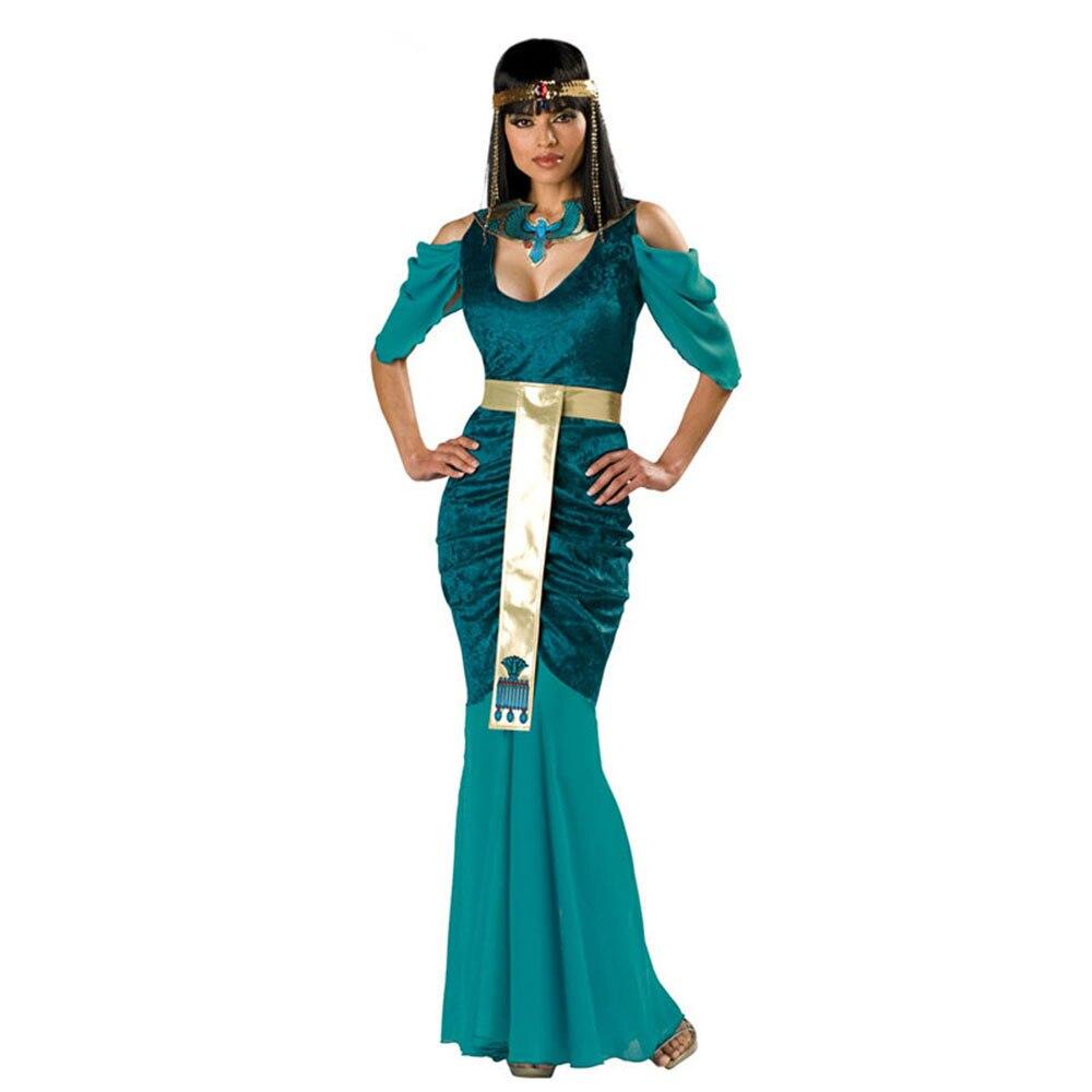 Senhoras festa de halloween egípcio cleópatra trajes feminino fantasia egito rainha traje cosplay carnaval fantasia vestir-se roupa