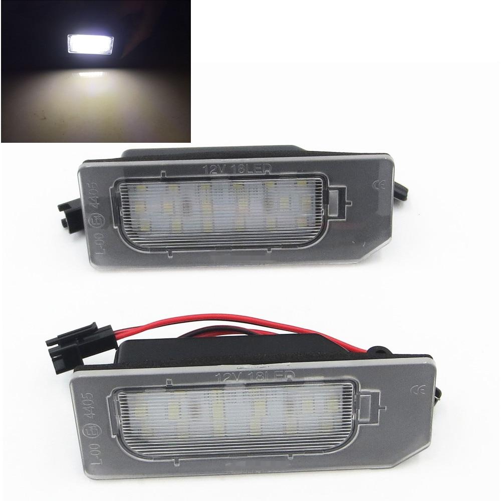 CYAN SOIL BAY 2pcs Error Free SMD License Plate LED Light lamp for Mitsubishi ASX 2010-UP