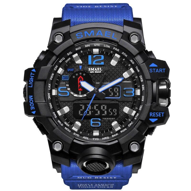 SmartWatch IP68 montre relogio Inteligente Sport montre rétro-éclairage double affichage hommes montre militaire montre à Quartz montre-bracelet