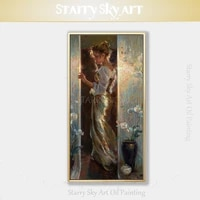top artist pure hand painted high quality lady portrait oil painting on canvas europe lady figure oil painting for living room