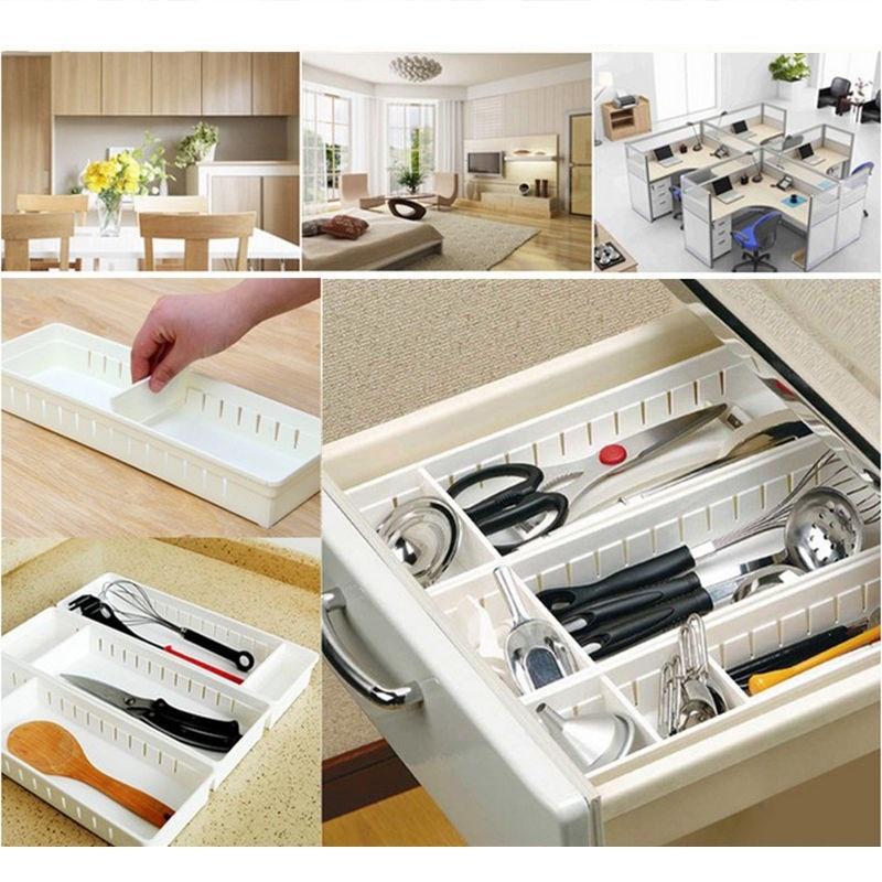 Hot Adjustable Home Drawer Storage Organizer Kitchen Partition Divide Cabinet Box
