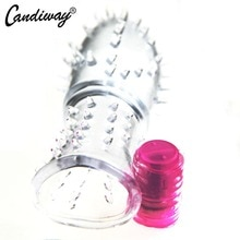 Vibrator kondom gepunktete bold klitoris Massager Vibrierende penis extender anhaltende cock ring verzögerung ejakulation vibe Sex Spielzeug Für mann