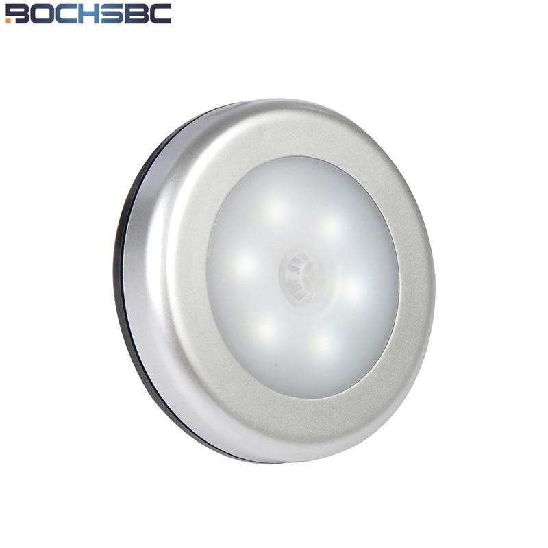bochsbc 5 pcs sensor infravermelho noite lampada luzes 6 leds movimento conduziu