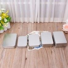 Delicato Piccolo Metallo D'argento di Latta Scatola di Immagazzinaggio di Caso Dell'organizzatore Per I Soldi Della Moneta Della Caramella Chiave Organizzazione