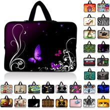 7 10.1 12 13 13.3 14 15.4 15.6 17.4 17.3 inch Butterfly laptop bag netbook sleeve case For Macbook A