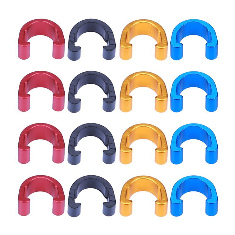 10 pçs ciclismo mtb c-clipes mangueira de freio engrenagem cabo grampos de cabo de freio de liga de alumínio guia clipes de cabo de freio de estrada bicicleta acessórios
