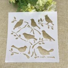 1 Sheet Birdie Layering Stencils for DIY Scrapbooking/photo album Decorative Embossing DIY Paper Cards Crafts