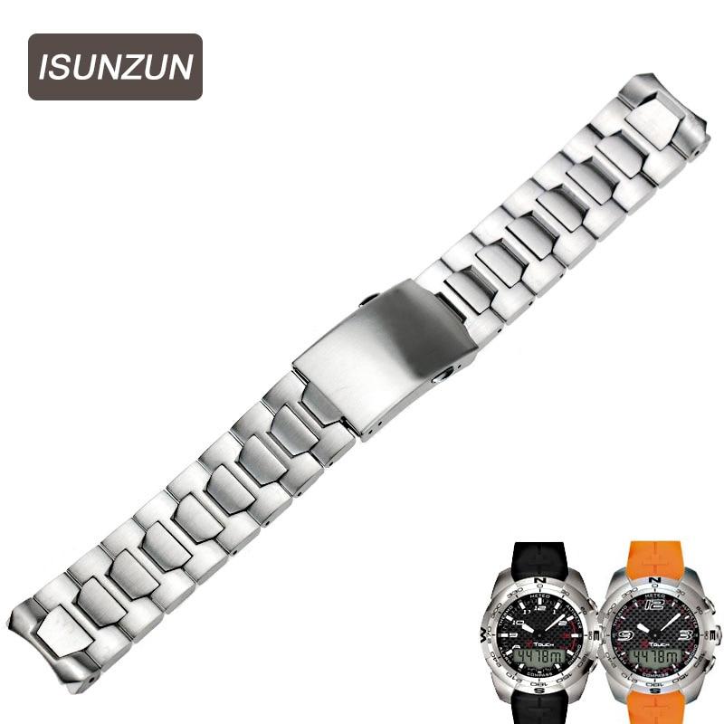Ремешок для часов ISUNZUN, стальной ремешок для часов Tissot T-Touch T013 T33 T047, аксессуары для часов