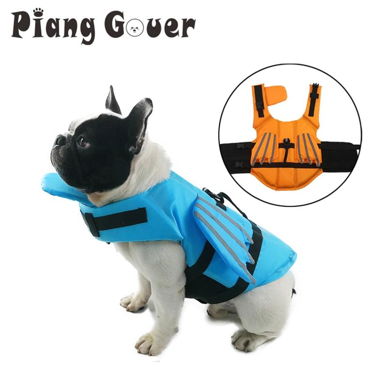 Жилет для собак, летняя Спасательная куртка для домашних животных, безопасный купальник для собак, купальный костюм для домашних животных, спасательные куртки для собак с отражающим крылом