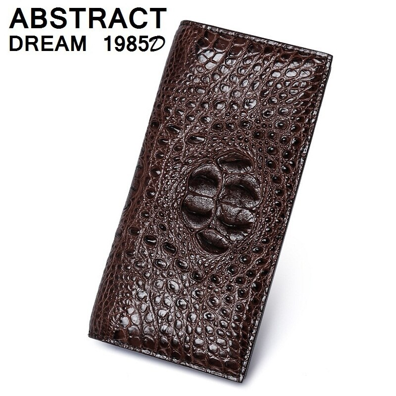 he is 2019 men's100% real Alligator Skull style men wallet Business new Suit leather luxury wallet Classic casual grade purse