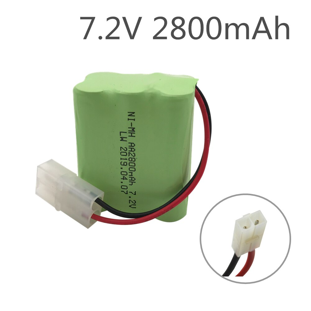 7.2v 2800mah Rechargeable battery pack 7.2v battery 6*AA NIMH battery for Remote control electric to