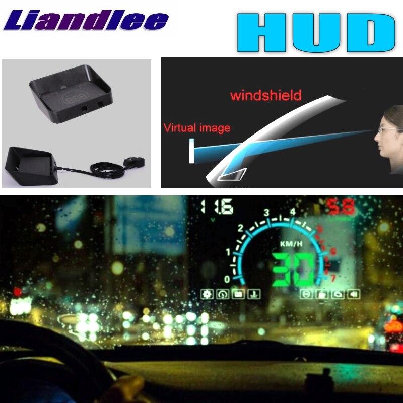 Liandlee HUD dla Ford f-series F150 F-150 250 GT Galaxy Mustang prędkościomierz cyfrowy OBD2 Head Up wyświetlacz duży Monitor wyścigi HUD