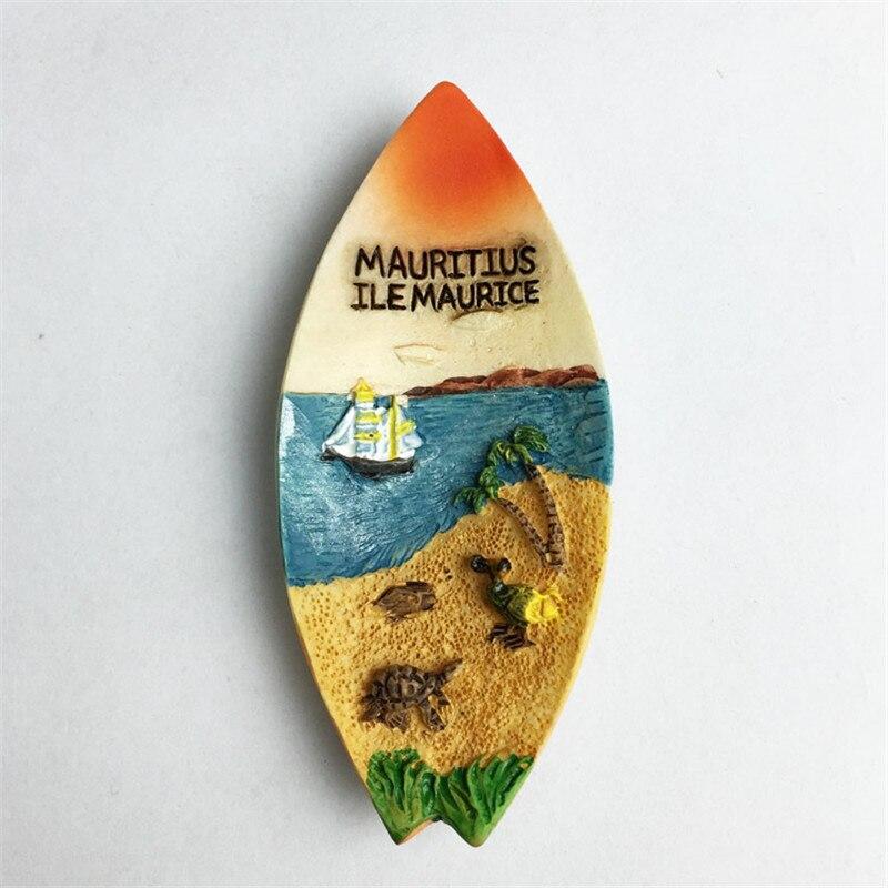 Imanes de nevera en canoa de Mauricio, pegatinas creativas con diseño de barco para nevera, recuerdos de viaje para decoración del hogar