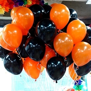 10 unids/lote 10 pulgadas blanco negro globo naranja de látex globos de boda fiesta globos de Halloween globo juguetes Balao