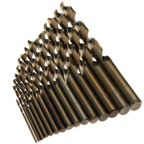 15 vnt. 1,5 mm – 10 mm kobalto greitaeigio plieno sukimo gręžimo - Grąžtas - Nuotrauka 2