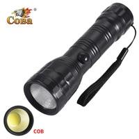 Coba cob flashlight plastic use 3*AAA battery waterproof high power flashlight mini hand led lamp hunting lantern hiking light