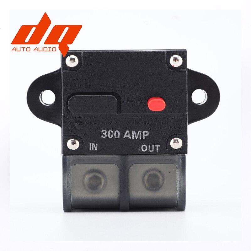 Cobre puro 300A 12V Car Truck Audio Amplifier disyuntor portafusibles agus Style Stereo Amplifier Refit 4GA a 4GA Cable